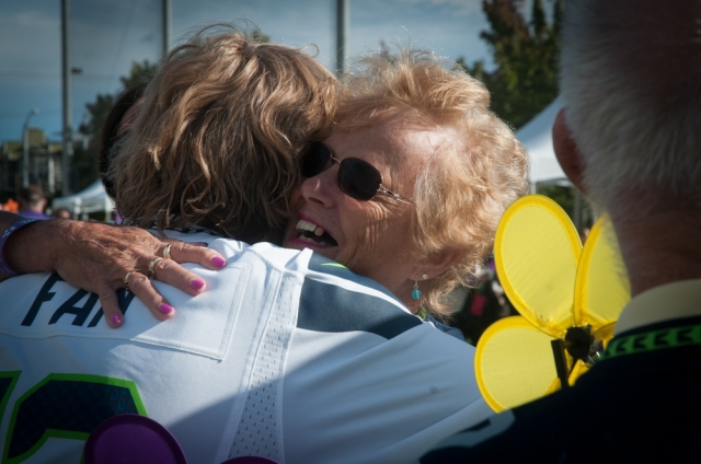 Families from across the United States met at the Seattle Walk to end Alzheimer's in honor of loved ones.