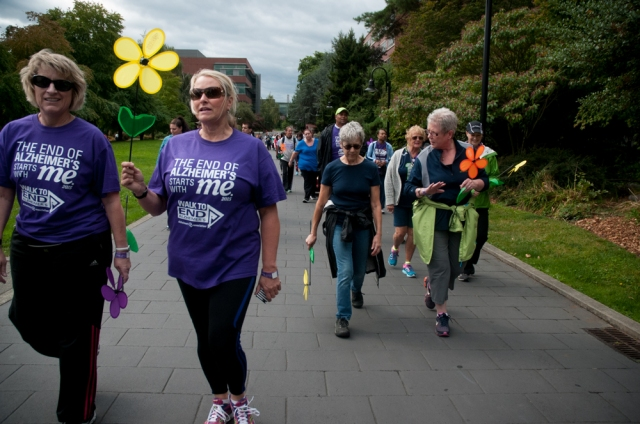 Supporters from across the country met at the Seattle Walk to End Alzheimer's.