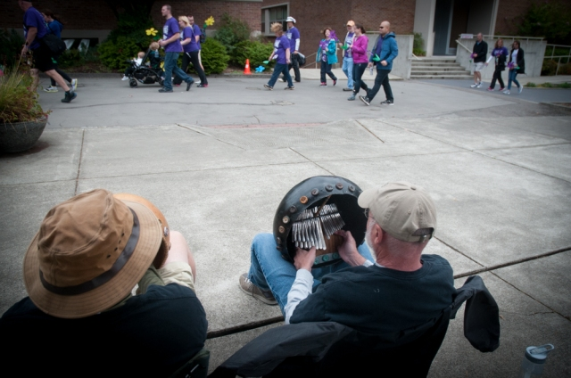 Musicians played instruments from Zimbabwe at the Seattle Walk to End Alzheimer's.