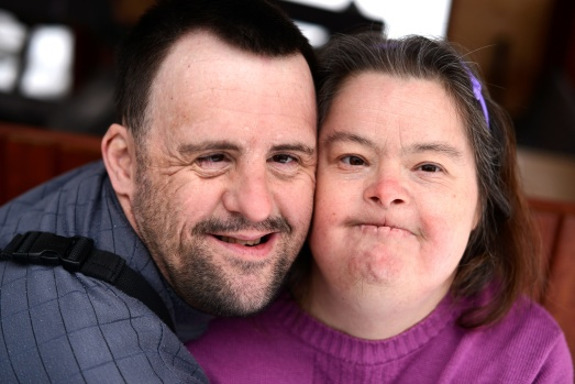 Two people with Down syndrome