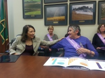 Julie in Washington DC with Senator Maria Cantwell